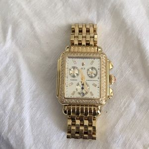 Michele Deco Diamond Gold Watch limited edition